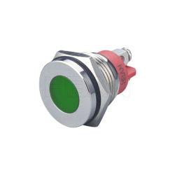 납작 머리 금속 나사 단자 16mm 표시기 도트 조명 IP67 방수 IP67 신호 램프 파일럿