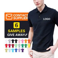 Carta da ricamo di alta qualità 100% cotone Stampa personalizzata Logo OEM semplice Polo uomo