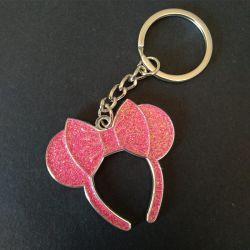 Neues Entwurfs-kundenspezifisches rosafarbenes Sparkly Basisrecheneinheits-Metallschlüsselkette