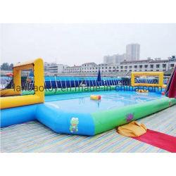 صالة الوصول الجديدة مخصص تجاري مضحك فريق لعبة الرياضة في الهواء الطلق الأطفال كرة القدم المنتفخة ساحة صابون