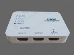 HDMI Switcher 5X1, HDMI Switcher 5X1 mit Mini Size und Remote Control