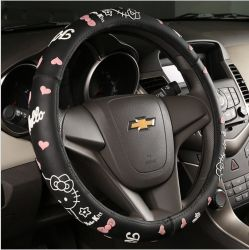 Stuurwielhoes New Four Seasons Mannen en Vrouwen Mode Auto stuurpaneel Cute Cartoon Silicone Non-Slip handvat
