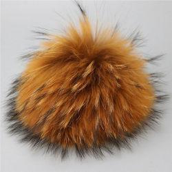 Fourrure de raton laveur réel de gros pompons/ de la fourrure des animaux