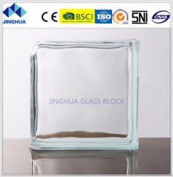 La mejor calidad Jinghua hombro Claro 190x190x80mm de ladrillo y bloque de vidrio