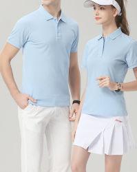 Beiläufige Sport-Abnützung-rüttelndes Baumwollgewebe-Gymnastik-Abnützung-Polo-Hemd
