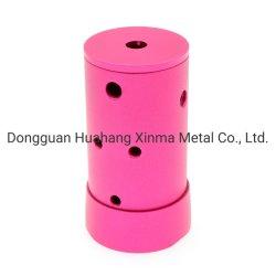 Nach Maß maschinell bearbeitete maschinell bearbeitendrehende Miniteile Aluminium-der CNC-Drehbank-multi Militärtaschenlampen-LED