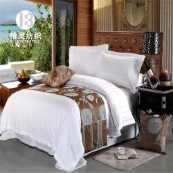 jaren '60 Wit 3cm 1cm 0.5cm Blad van de Dekking van het Bed van het Dekbed van het Hotel van het Ontwerp van de Streep 100% Katoen