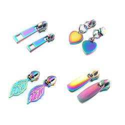 Custom Metall Reißverschluss Abzieher hohe Qualität Tasche Reißverschluss Slider für Handtasche