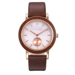 Het unieke Marmeren Horloge van de Steen met Kleine Tweede van de Houten Vatting