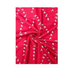 Vestido de secado rápido de Single Jersey tejido brillante fantasía Glitter tejido de punto de impresión