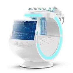 Últimas 7 em 1 Hydro Máquina Facial Aqua descasque de oxigénio a pele de pulverização do sistema de gerenciamento de Smart azul gelo Dispositivo de beleza