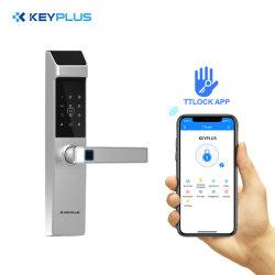 Maison intelligente de l'APP, la technologie Bluetooth de serrure de porte électronique des serrures de coffre numérique Verrouiller la porte du clavier de carte à puce le mot de passe de verrouillage du vérin Euro