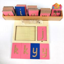 미니 그루브 레터 타일 프린트 사순 하단 케이스(트레이 포함 스타일러스 몬트소리 재료 언어 나무 장난감 카드