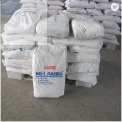 Poudre blanche de matériel d'Cyanurotriamide mélamine 99,8 % Bon Prix C3H6N6