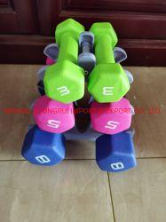 3 pares de la familia pesa de vinilo con rack