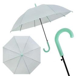 عرض ترويجي شفاف في باراغواي مع عرض ترويجي شفاف ورخيص ضد الرياح الخضراء والأمطار الغزيرة Parapluie Sombrillas Clear PVC TPU Kids Outdoor Children