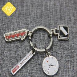 Мода эмаль твердых сплавов дом цепочки ключей в качестве рекламных подарков (W-171)
