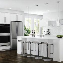 Muebles De Cocina современным белым меламина MDF кухонные шкафы двери