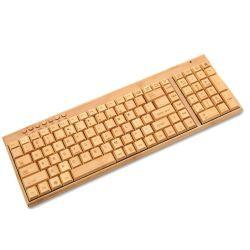 MOQ Logotipo personalizado bajo la fábrica de madera de bambú ecológica Teclado USB Inalámbrico Portátil