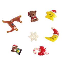 La resina Mini Adornos de Navidad Adornos de Navidad en miniatura de la Luna estrellas Muñeco de Nieve pequeños adornos del árbol de Navidad