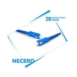 Necero de fibra óptica de 20 años los cables de comunicación de la Fábrica de Equipos de prueba de componentes 100% MPO blindado MTP LC Sc Cable