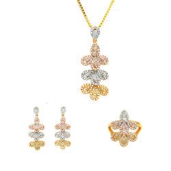 Accessoire de mode à trois couleurs bijoux pendentif en couches Drop Earrings