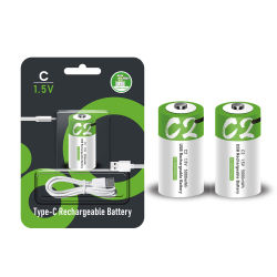 工場卸し売り費用再充電可能なC DのサイズのTypec USBの再充電1pack 2pack電池のパック李イオン再使用可能なC D Am2 Cr14電池