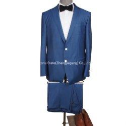 Fabriqué en Chine Le commerce de gros 100% laine bleu clair la combinaison unique d'hommes à poitrine encoche costume-cravate bureau moderne de mettre en place