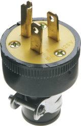 15 AMP, 125 volts, NEMA 5-15P, o bujão do soquete de Lâmina Reta