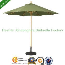"""9 """" Mercado de madeira Umbrella Suncrylic Fabric com madeira de luz (WU-R827L)"""
