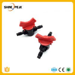 2 PC Conector de 3/8'' de la manguera Controlador de caudal ajustable Interruptor de la utilización de maquinaria agrícola de las válvulas de tubo de riego del jardín
