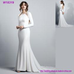 주문품 백색 결혼 예복 긴 소매 신부 드레스 W18319