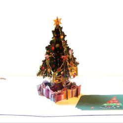 معلمة قابل للتسجيل [هندمد] يوم عيد ميلاد عيد ميلاد المسيح [3د] يفرقع بطاقة فوق [غريتينغ كرد] طباعة