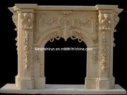 Grande cheminée en marbre (FP073)