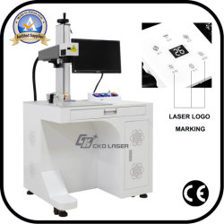 DIY kundenspezifische Laser-Stich-Markierungs-Maschine für Metallhundeplakette-Verfalldatum-Marke