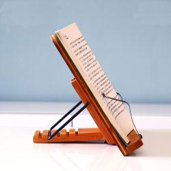 100% de la oficina en casa de bambú Use soporte libro titular