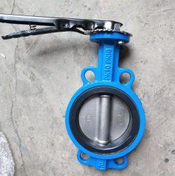 En fonte ductile Di en acier inoxydable d'EC Barss Siège EPDM galette résilient ergot chargé de l'eau de type double à bride Vanne papillon industrielle