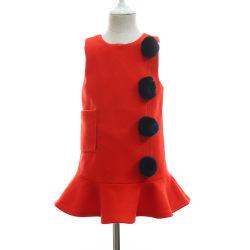 Les billes de fourrure Vintage laine sans manches robes de poche pour les filles Fashion gros en Chine