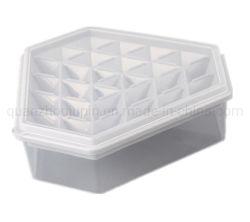 28 OEM Grid Diamond plástico poligonais cubos de gelo com pá de Tampa