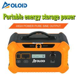 Batterie rechargeable au lithium-ion 500 Wh/Li-ion-lithium/Portable pour l'extérieur de la Banque d'alimentation mobile