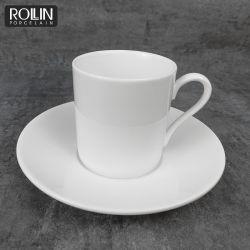 فندق مطعم يستعمل آنية فخّاريّة خزفيّة خزف [إسبرسّو] فنجان مع طبق مسطّح