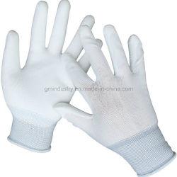 De Pu Met een laag bedekte Handschoen van het Werk van de Veiligheid van de Voering van de Polyester