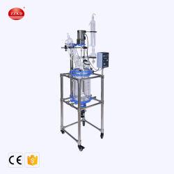 Réaction chimique Instrument du réacteur en verre de laboratoire