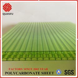 Китай Quanfu Lexan материал из поликарбоната Honeycomb ПК в мастерской для покрытия