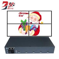 4에서 영상 관제사 2X2 LCD 벽 전시 HDMI 1 밖으로 4개의 텔레비젼 접합을%s