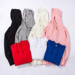 الجملة الرجال النساء Unisex شعار مخصص أسود/أبيض/رمادي/أزرق/أحمر صلب Plain فارغ هودي