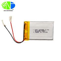 Dtp ULのセリウムのRoHS FCC Un38.3によって証明される3.7V 310mAh極めて薄い2mmのリチウムLipo電池