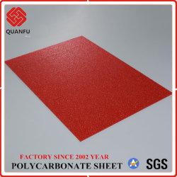 PC de qualité Quanfu Fiche de construction feuille Gaufré en polycarbonate