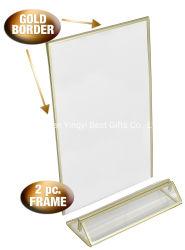 Sinal de acrílico personalizado papel Menu de plástico de rack de Exibição de cartão