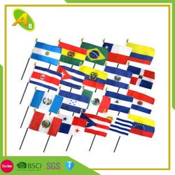 Custom полиэстер Фанаты спорта во всех странах в руках флаг дешевые небольшой размер рекламы национального флага Custom стороны Memory Stick™ (03)